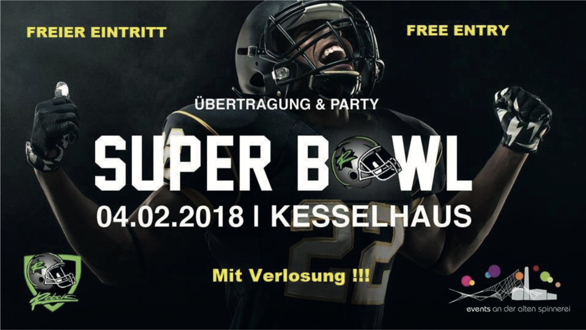 Super Bowl Party 2018 - Events an der Alten Spinnerei