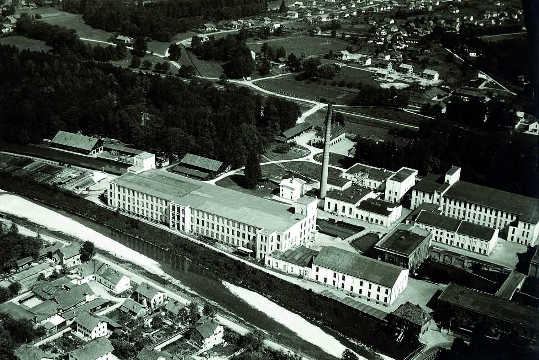 Historische Luftaufnahme Alte Spinnerei- Events an der Alten Spinnerei
