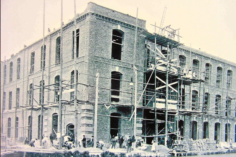 Historische Aufnahme Renovierung der Alten Spinnerei – Events an der Alten Spinnerei
