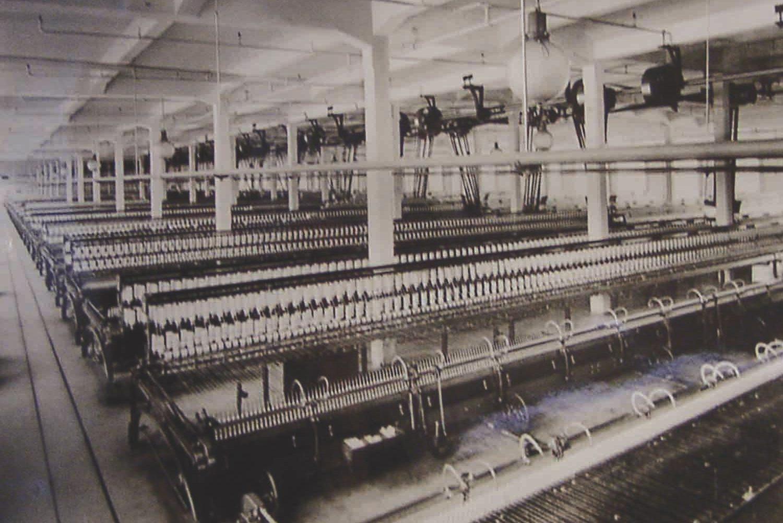 Historische Aufnahme der Spinnerei – Events an der Alten Spinnerei