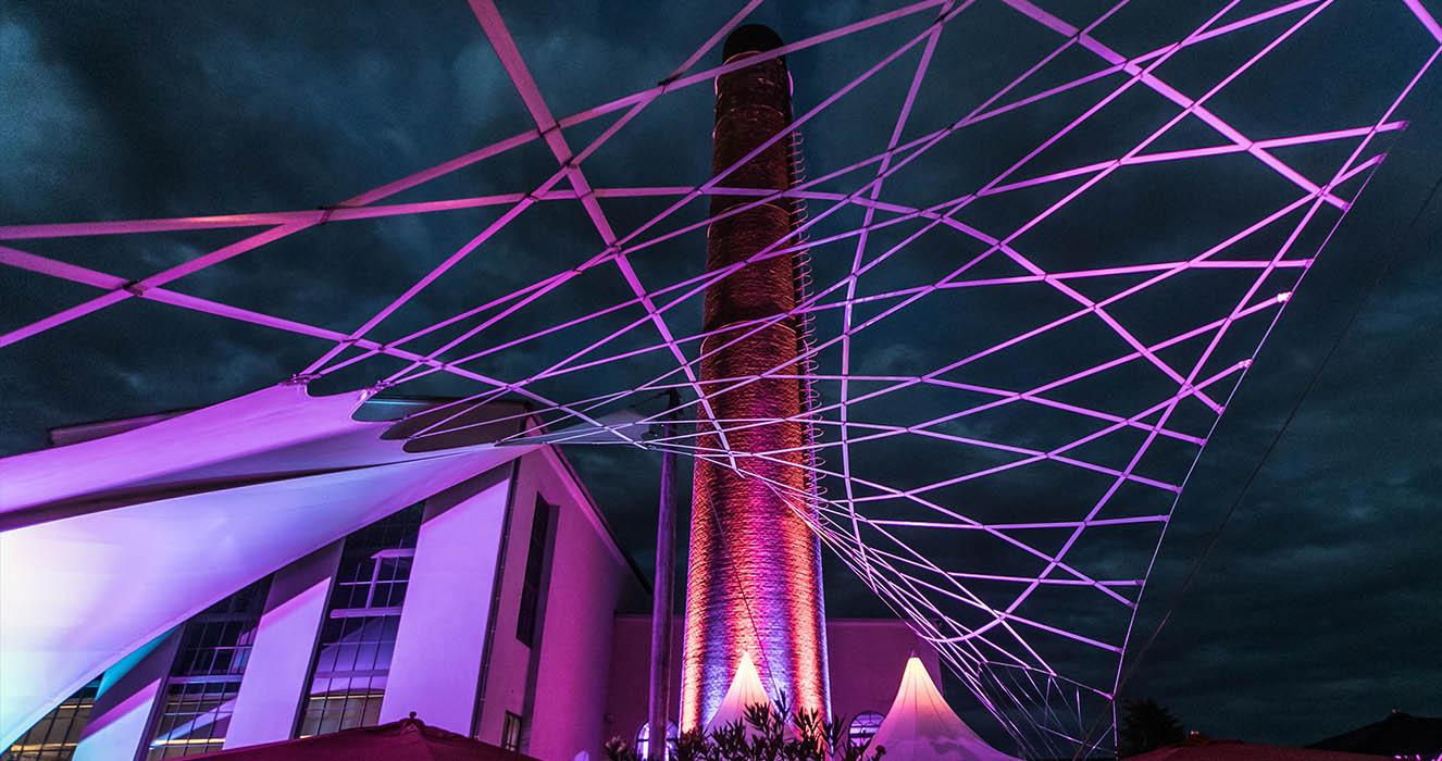 Außenbeleuchtung Rosengarten - Events an der Alten Spinnerei