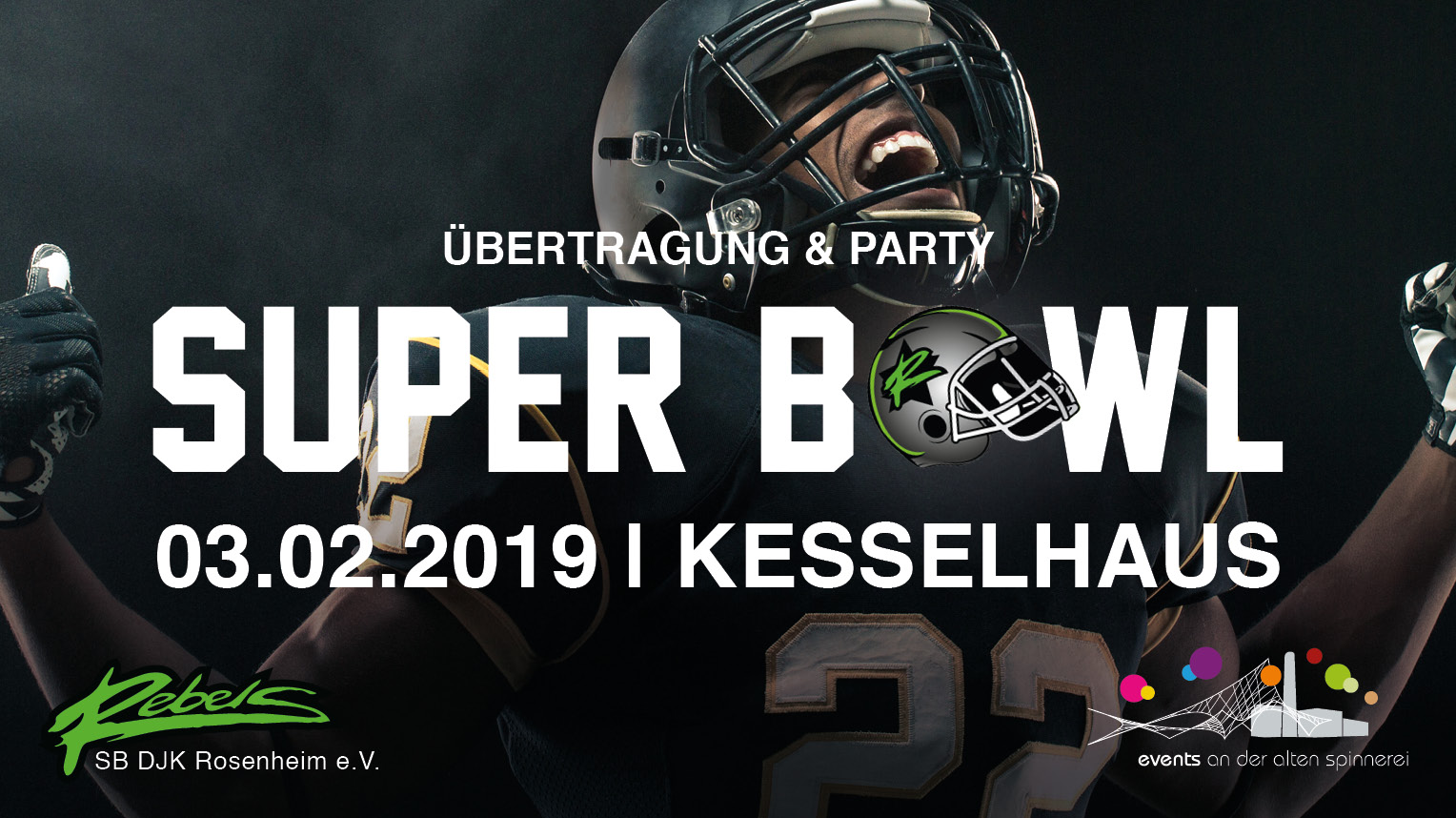 Superbowl Public Viewing im Kesselhaus 2019